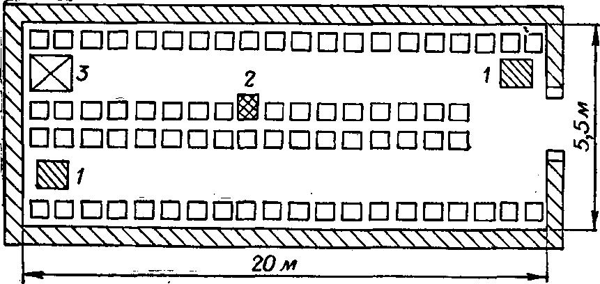 Схема зимовника на 250 ульев: